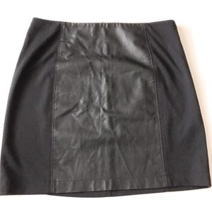 Banana Republic faux leather panel skirt